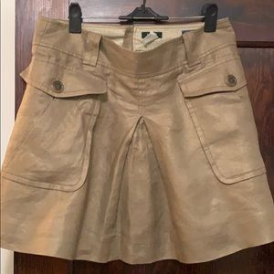 Linen mini skirt